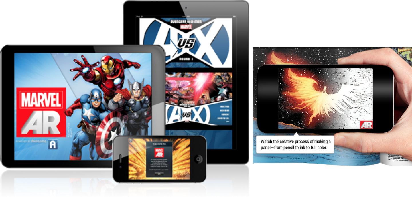 Marvel AR (Augmented Reality) App