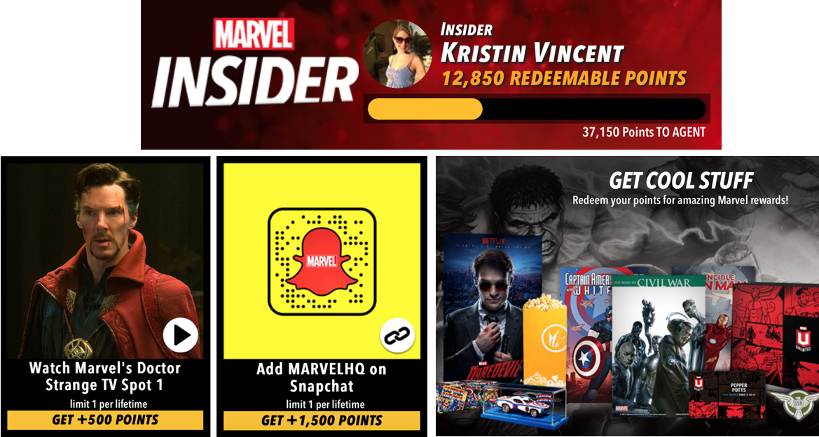 Marvel Insider Loyalty Program